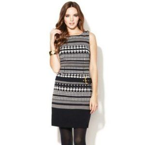 LAUNDRY by Shelli Segal (4P) Houndstooth Dress